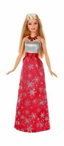 NIP Mattel Barbie Christmas 2016 Red Snowflake Dress FDR 53
