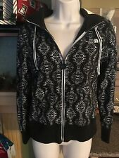 Girls The North Face Front Zip Black/White Hoodie Size S/P