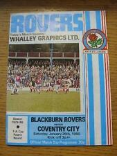 26/01/1980 Blackburn Rovers v Coventry City [FA Cup] (Creased, Folded). No obvio