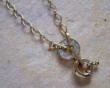 Dyrberg Kern Kette TASHA Shiny Gold mit kristallweissen Strass Steinen
