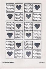 6 Kanban Toppers Wedding Invitation Carte Making silver script Sur Perle Blanche