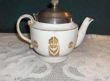 Vintage Royal Rochester Teapot/Tea Ball, Gold/Cream