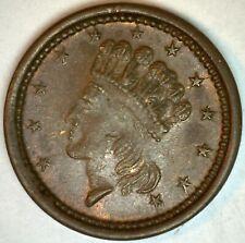 1864 Patriotic Civil War Token Indian Princess 12 Stars Union Forever Shield