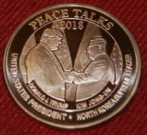 New US Medal 1 OZ. 31,1g Cooper from 45. President Donald Trump ; UNC.- (2)