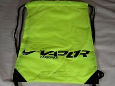 New Nike Vapor Carbon 2.0 Drawstring Shoe Bag Football Cleats Volt Black