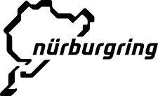 NURBURGRING Logo x 2 Boot Vinyl Cut Sticker Decals 150 x92mm -