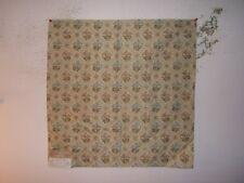 """Highland Court """"Tea Rose Lattice"""" embroidered remnant for craft color blue/gold"""