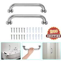 2Pcs Grab Bar Stainless Steel Anti-Slip for Shower Room Bathroom Toilet Rail New
