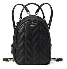 Kate Spade Black Briar Lane Quilted Mini Backpack or Crossbody Bag Black $299