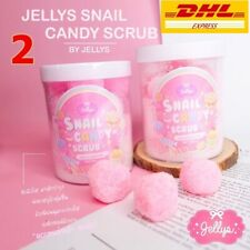2 x JELLY SNAIL CANDY BODY SCRUB 3 IN 1 MASK SOAP SCRUB BRIGHTENING SKIN