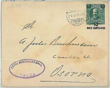 CHILE - Postal Stationery Cover -  Higgings & Gage #27 - from TALCA - 1916