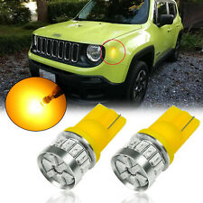 Amber 18-SMD T10 194 2825 LED Side Marker Light Bulbs For Jeep Renegade 2015-19