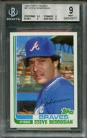 1982 topps traded #4t STEVE BEDROSIAN atlanta braves rookie BGS 9 (9.5 9 9 9)