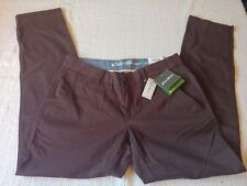 Eddie Bauer Outdoor NWT Women's Size 6 x 32 Cocoa Boyfriend Relaxed Leg Pants