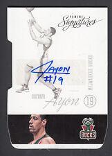 Gustavo Ayon 2012-13 Panini Signatures Die Cut Autograph Card #43 Bucks