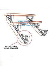 ORIGINAL GENUINE INSTA-STEP+® STAIR BRACKET STEP BRACKET DO IT YOURSELF DIY PAIR