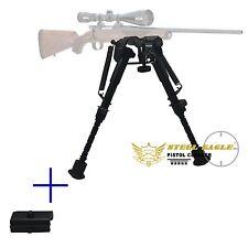 "6"" to 9"" Compact Spring Return Sniper Hunting Rifle Bipod + Picatinny Rail Mount"