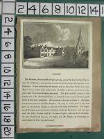 C1840 Antik Aufdruck ~ Sir John Dryden Mansion & Familie Mit Text Canons Ashby