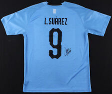 Luis Suarez Signed Uruguay National Puma Jersey (Beckett COA)  2018 World Cup