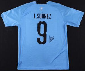 Luis Suarez Signed Uruguay National Puma Jersey (Beckett COA)  2018 World Cup