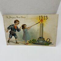 Vintage Postcard 1912 A Happy New Year 1913