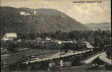 Seebenstein AK mit Langstempel Niederösterreich AK 1928 Schloss Burg Landschaft