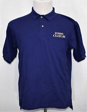 YAMAHA O2R 96 Logo Embroidered Polo Shirt Royal Blue Medium Outer Banks SS