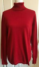 TALBOTS Womens Sweater Turtleneck RED Long Sleeve Size L/Large
