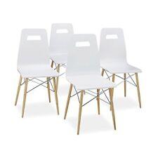 Ensembles de table et chaises de maison modernes blancs, pour séjour