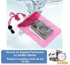 Funda para camara digital para agua bolsa acuatica color rosa (Envio express)