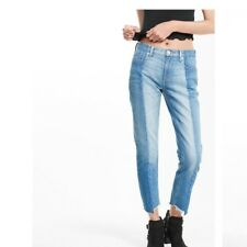 Express Two Toned Girlfriend Ankle Jeans SZ. 16R 142830