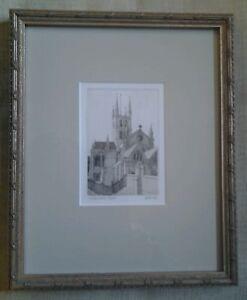 Joseph Winkelman SOUTHWARK original etching signed numbered dated matted framed