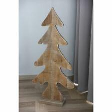 Tannenbaum Rika Holz H 40 cm braun mit Kunstfell