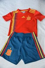 SPAIN SHORT SLEEVED RED ADIDAS HOME SHIRT  SIZE BOYS 5-6 YEARS