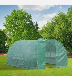 ^ Greenhouse, Reinforced Walk in Polytunnel 4x3x2 m Garden Outdoor 26:1
