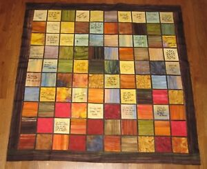 Wedding Guest Book Alternative, Custom Handmade Multi-Color Signature Quilt