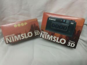NEW OLD STOCK! NEVER HAS BEEN USED! NIMSLO 3D 35MM CAMERA W/ OPTI- LITE FLASH