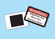 Warning A Very Purr-fect Devon Rex Cat Loves Here! - Magnet - Sku# 008