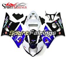 Blue Black White Fairings For 2003 2004 Suzuki GSXR1000 K3 03 Injection Bodywork