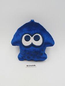 "Splatoon B2608 Inkling Blue Zipper Bag Purse 2017 mascot 4"" Plush Toy Doll Japan"