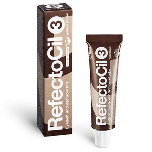 (33,00 € / 100ml) RefectoCil Augenbrauenfarbe und Wimpernfarbe 15 ml Naturbraun