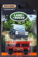 2016 Matchbox Land Rover Series Land Rover Ninety DARK RED / PAYNE & SONS / MOC