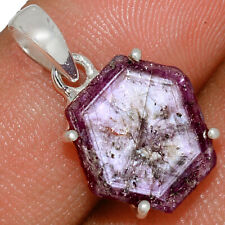 Rare Natural Ruby Statactites 925 Sterling Silver Pendant Jewelry AP167344