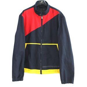 NAPAPIJRI Men's Jacket Size 3XL Blue Button Neck