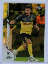 2019-20 Topps Chrome UEFA Sapphire Yellow #16 Jadon Sancho #85/99 BVB Borussia