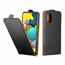 Samsung Galaxy A51 Hülle Klapp Tasche Rundumschutz Bumper Flip Case Schwarz Neu