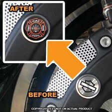 Brembo Front Brake Caliper Insert Set For Harley - FIRE DEPT FIREFIGHTER - 073