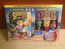 Ultimate SpongeBob Exclusive Movie Blu-Ray Gift Set w/ Collectible Pez NEW