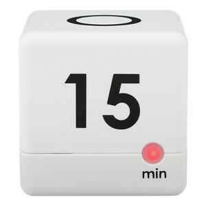 919-186-60WH La Crosse Technology 5, 15, 30 or 60 Minutes Cube Timer - White