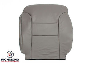 1997 Chevy Silverado C/K C3500 K3500 -Driver Lean Back Leather Seat Cover Gray